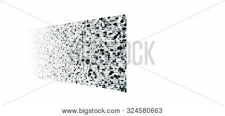Greyscale Dots, Half-tone, Circles Pattern. Speckle, Stipple Geometric Element. Dotted Halftone Patt