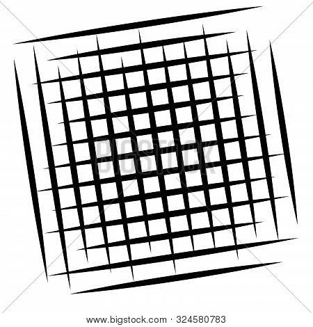 Grid, Mesh Element. Cellular, Reticular Grate, Lattice. Array Of Bisect, Overlap Lines, Stripes. Geo