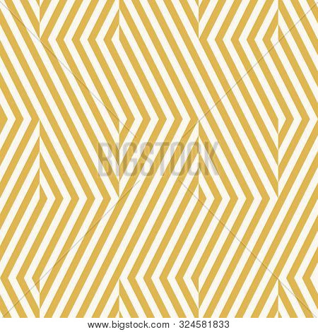 Vector Geometric Lines Seamless Pattern. Modern Texture With Diagonal Stripes, Broken Lines, Chevron