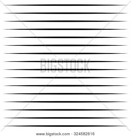 Horizontal Lines Geometric Element. Straight Parallel Lines, Stripes. Horizontal Streaks, Strips Pat