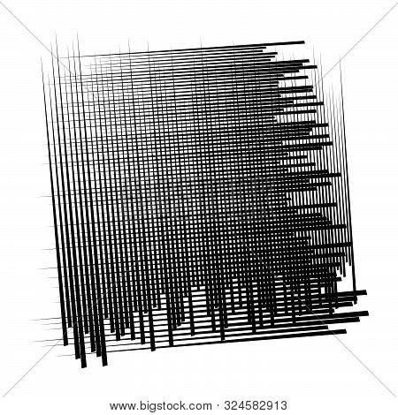 Random Lines Grid, Mesh. Dynamic, Irregular Overlap, Intersect Lines, Stripes. Jumble, Reticulate Ge