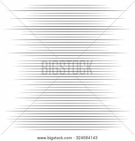 Random Lines Halftone Element. Random Horizontal Lines. Irregular Straight, Parallel Stripes. Strips