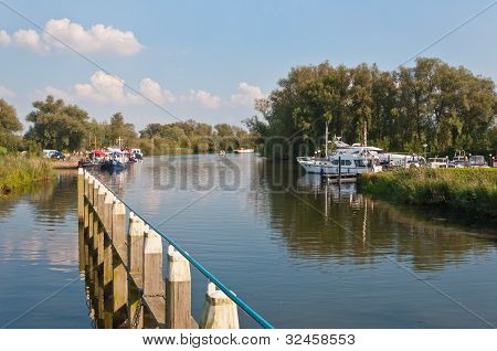 Small Port In The Dutch National Park De Biesbosch