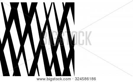 Grid, Mesh Abstract Geometric Pattern. Crossing Random, Irregular Lines Texture. Rectangle Lattice.