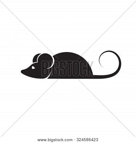 Mouse Icon In Trendy Flat Style Isolated On Background. Mouse Icon Page Symbol For Your Web Site Des
