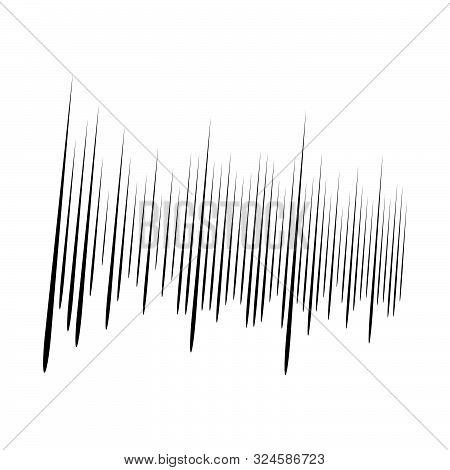 Dynamic Comic Burst Lines. Random Vertical Straight Stripes. Irregular Streaks, Strips Design. Abstr