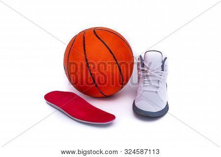 Modern Mid-high White Basketball Shoe With Custom Orthotics