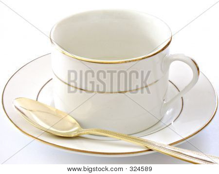 Coffee Cup Saucer And Spoon2