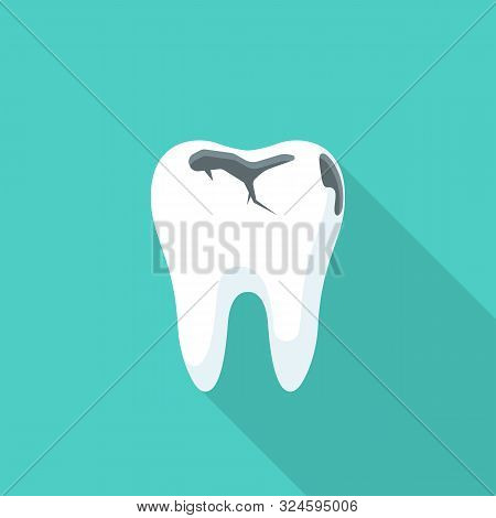 Tooth Decay. Bad Tooth. Dental Care Background. Unhealthy Teeth. Vector Illustration Flat Design. Is