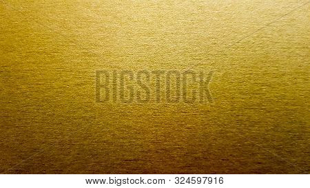 Gold Background Or Texture And Gradient Shadow. Wall And Floor Gold Yellow Mosaic Tiles Texture Back