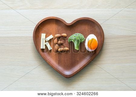 Keto Food For Ketogenic Diet, Healthy Nutritional Food Eating Lifestyle For Good Heart Health With H