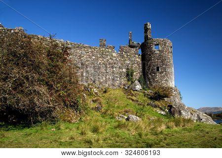 Kilchurn Castle Turret Ruin At Dalmally Loch Awe Scotland