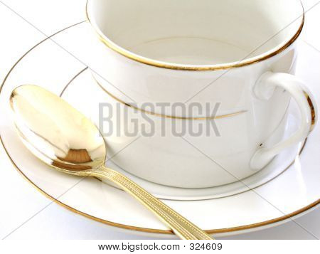 Coffee Cup Saucer And Spoon4