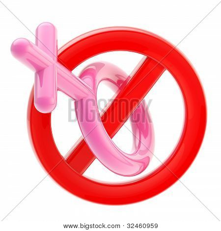 Female not allowed sign isolated