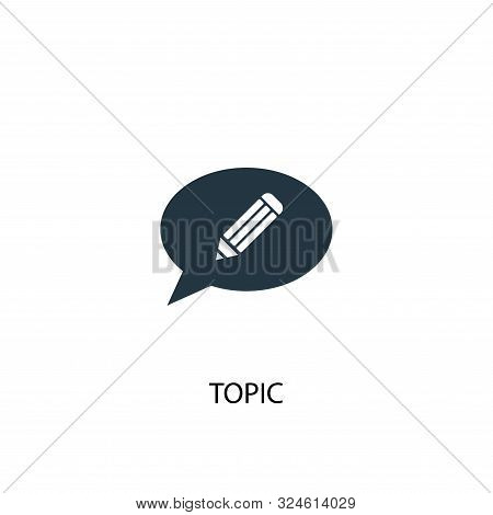 Topic Icon. Simple Element Illustration. Topic Concept Symbol Design. Can Be Used For Web