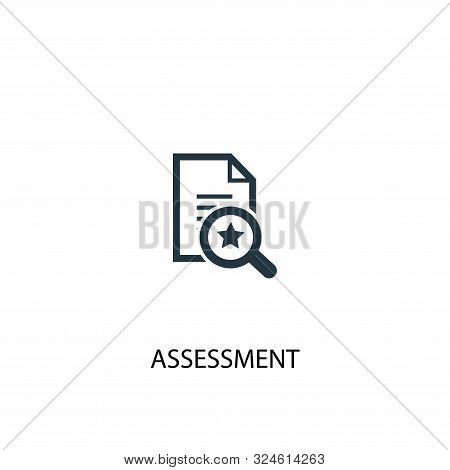 Assessment Icon. Simple Element Illustration. Assessment Concept Symbol Design. Can Be Used For Web