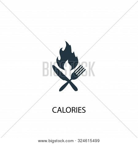 Calories Icon. Simple Element Illustration. Calories Concept Symbol Design. Can Be Used For Web