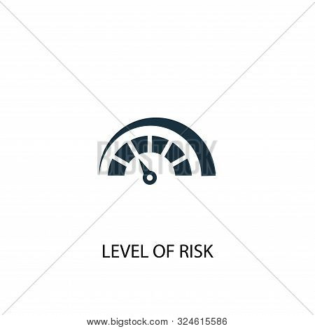 Level Of Risk Icon. Simple Element Illustration. Level Of Risk Concept Symbol Design. Can Be Used Fo