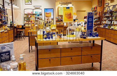 Brisbane, Queensland, Australia - 25th September 2019: Inside Loccitane Store In Westfield Shopping