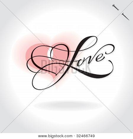 'love' hand lettering (vector)