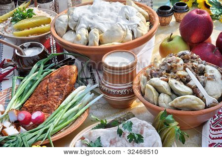 Traditional Ukrainian Food In Assortment