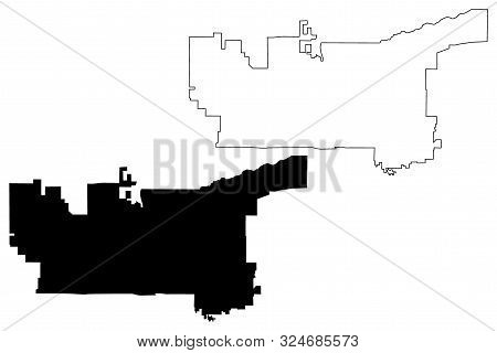Salt Lake City (united States Cities, United States Of America, Usa City) Map Vector Illustration, S