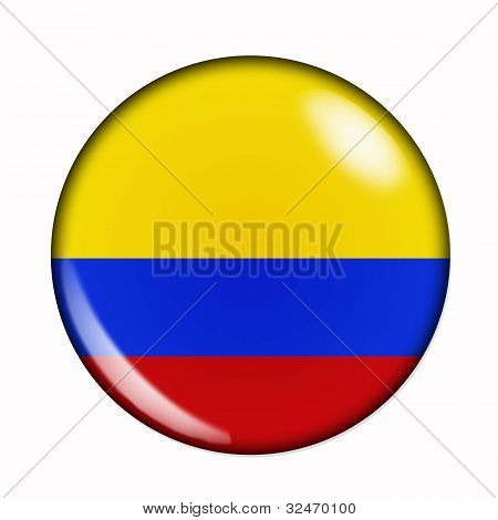 Button Flag Of Colombia