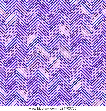Intersected, Interweaved Irregular Lines, Stripes Purple, Pink Grid Pattern. Interlocking, Weaved Cu