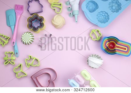 Kitchen Tools. Cooking Utensils For Baking. Various Shape And Size Container For Baking Use