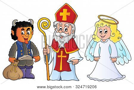Saint Nicholas Day Theme 6 - Eps10 Vector Picture Illustration.