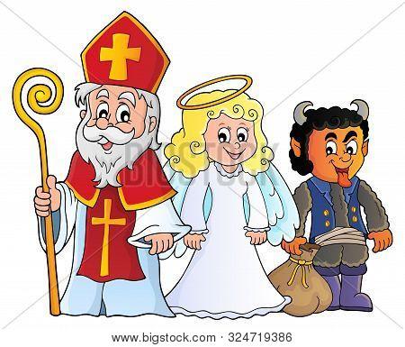 Saint Nicholas Day Theme 7 - Eps10 Vector Picture Illustration.