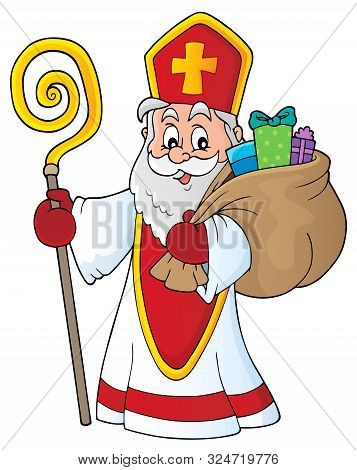 Saint Nicholas Topic Image 4 - Eps10 Vector Picture Illustration.