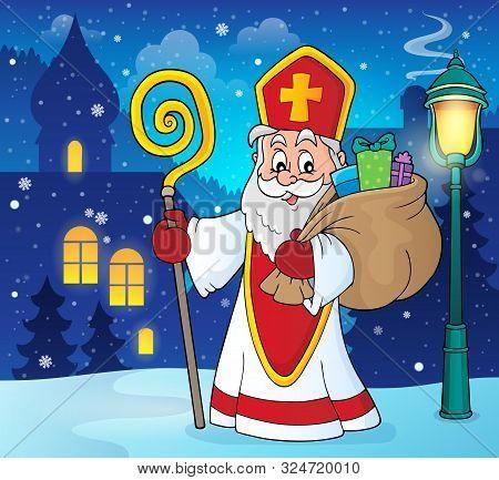 Saint Nicholas Topic Image 5 - Eps10 Vector Picture Illustration.
