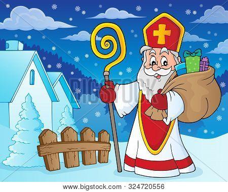 Saint Nicholas Topic Image 8 - Eps10 Vector Picture Illustration.