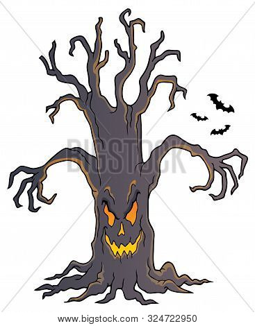 Spooky Tree Topic Image 4 - Eps10 Vector Picture Illustration.