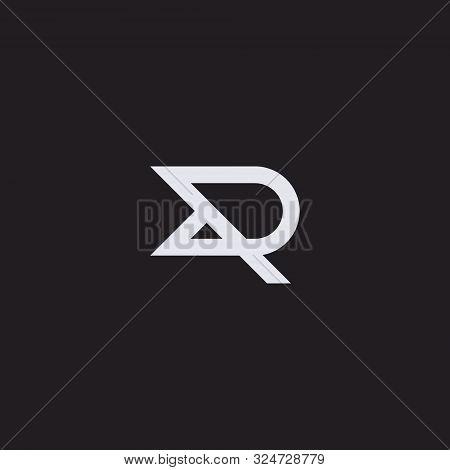 Dr Or R Letter Logo, Concept Letter D + R Monogram Design. Vector Stock Eps 10.