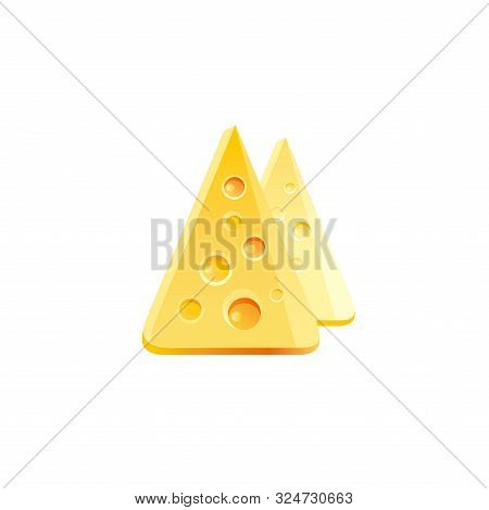 Vector Illustration Eps10, Isolated On White Background. Realistic Food And Drink Symbol, 3d Swiss C