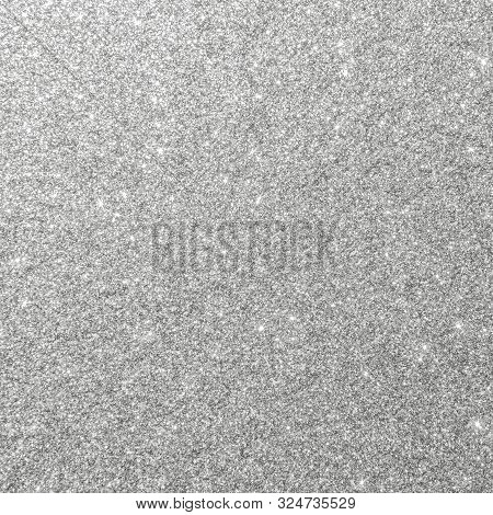 Silver Glitter Background Texture White Sparkling Shiny Wrapping Paper For Christmas Holiday Seasona