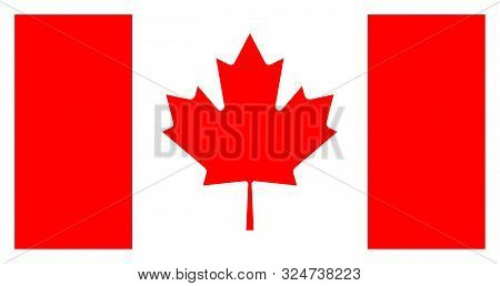 Flag Canada. High Detailed Vector Flag Of Canada. Canada Flag, Official Colors And Proportion Correc