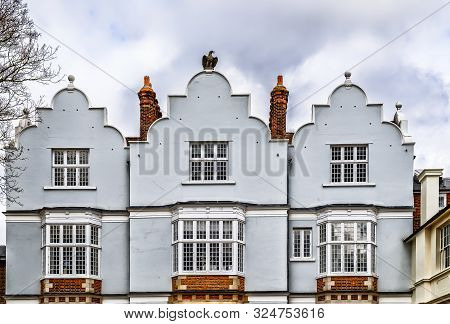 London, U.k, March 2019, Top Of Eagle House A Jacobean Manor House In Wimbledon Village