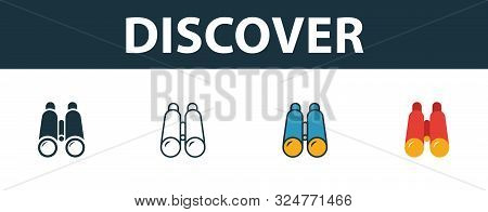 Discover Icon Set. Premium Symbol In Different Styles From Startup Icons Collection. Creative Discov