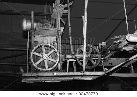 Old industrial machinery