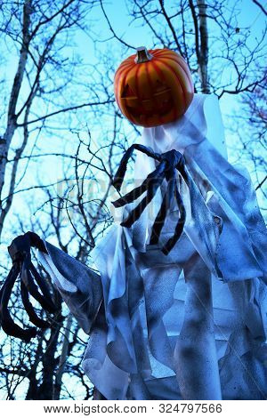 An Image Of Creepy Halloween Ghosts And Ghouls.