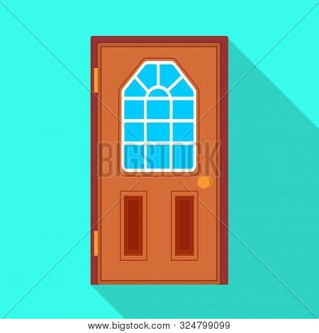 Vector Design Of Door And Doorway Sign. Collection Of Door And Frame Stock Vector Illustration.