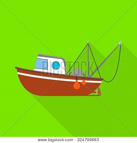 Isolated Object Of Fishery And Trawler Logo. Collection Of Fishery And Naval Vector Icon For Stock.