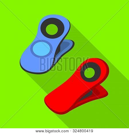 Vector Design Of Pin And Clothespin Icon. Collection Of Pin And Shape Vector Icon For Stock.