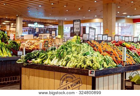 Brisbane, Queensland, Australia: 24th September 2019: Green Grocer Fruit And Vegetable Store At A Bu