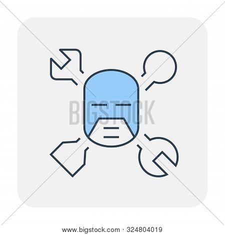 Config Or Setting Icon Design, Editable Stroke.