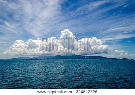 View From Boat Across Ocean To Pha-ngan Island