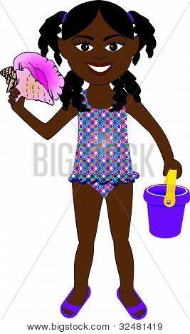 Afro Girl Swimsuit